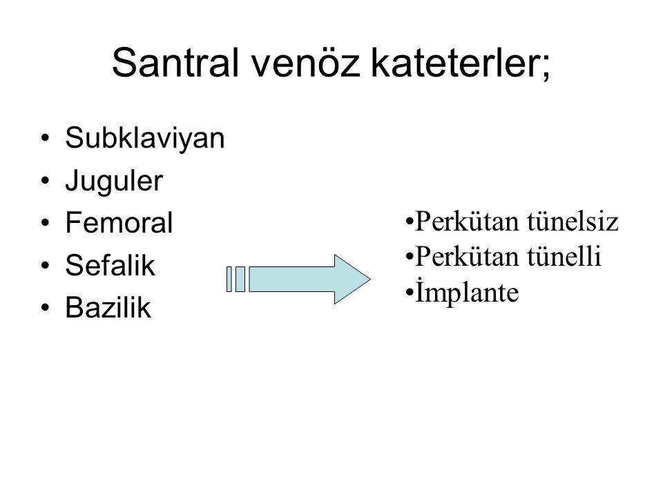 Santral venöz kateterler;