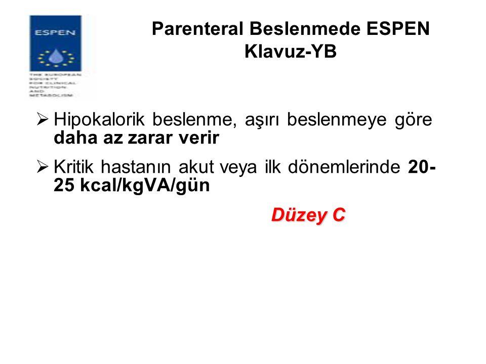 Parenteral Beslenmede ESPEN Klavuz-YB