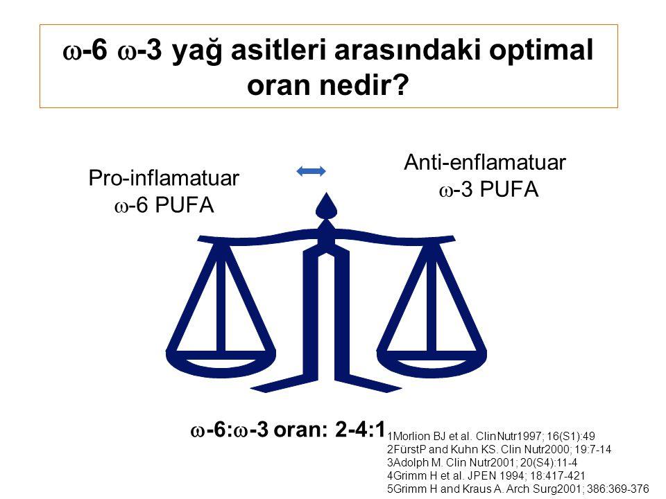 -6 -3 yağ asitleri arasındaki optimal oran nedir
