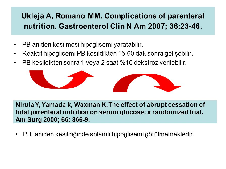 Ukleja A, Romano MM. Complications of parenteral nutrition