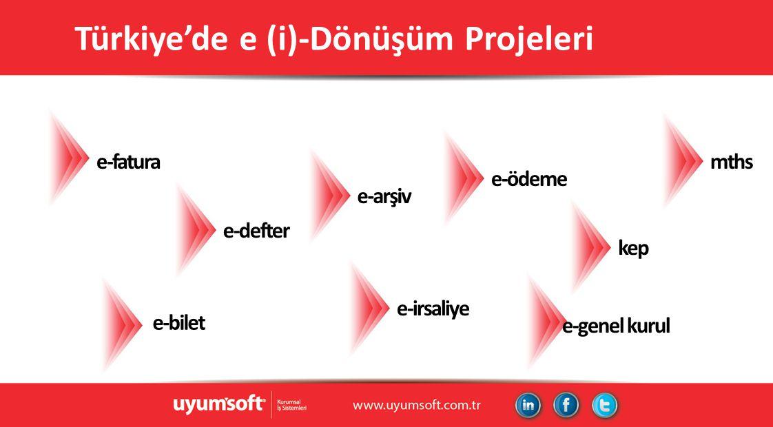 Türkiye'de e (i)-Dönüşüm Projeleri