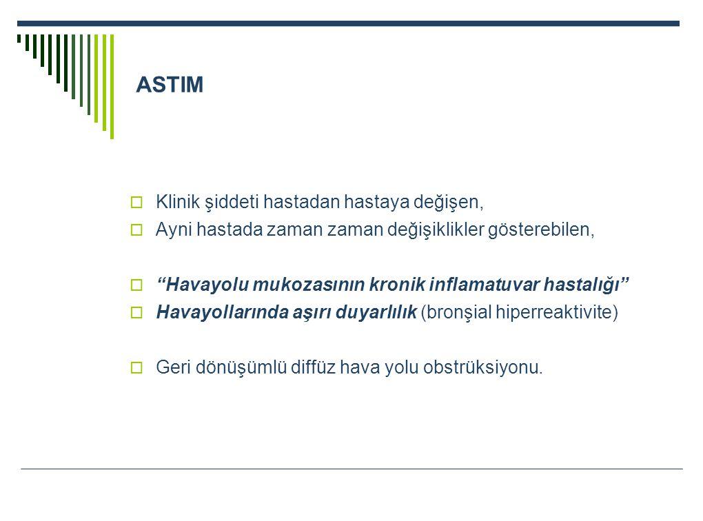 ASTIM Klinik şiddeti hastadan hastaya değişen,