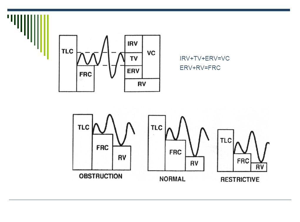 IRV+TV+ERV=VC ERV+RV=FRC
