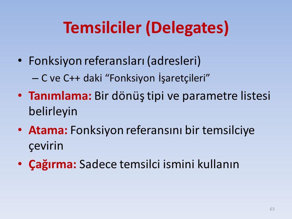 Temsilciler (Delegates)
