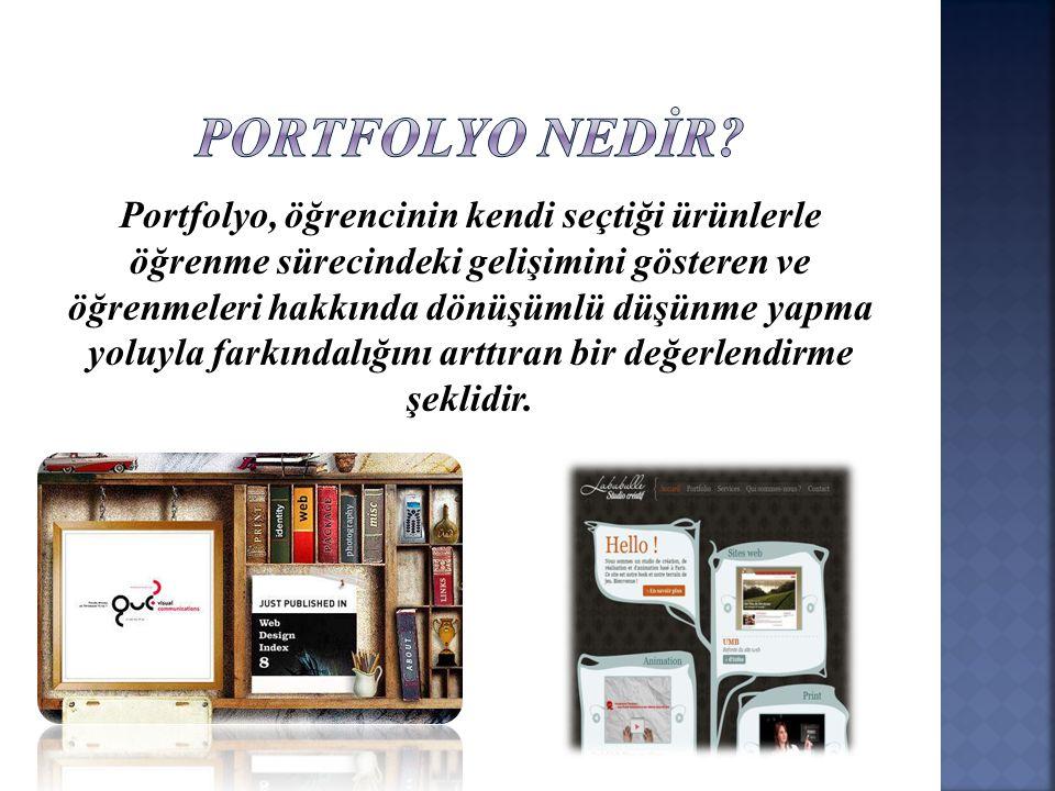 PORTFOLYO NEDİR