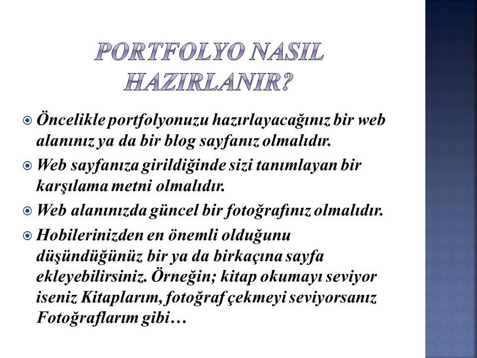 PORTFOLYO NASIL HAZIRLANIR
