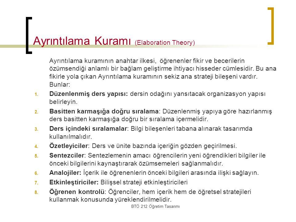 Ayrıntılama Kuramı (Elaboration Theory)