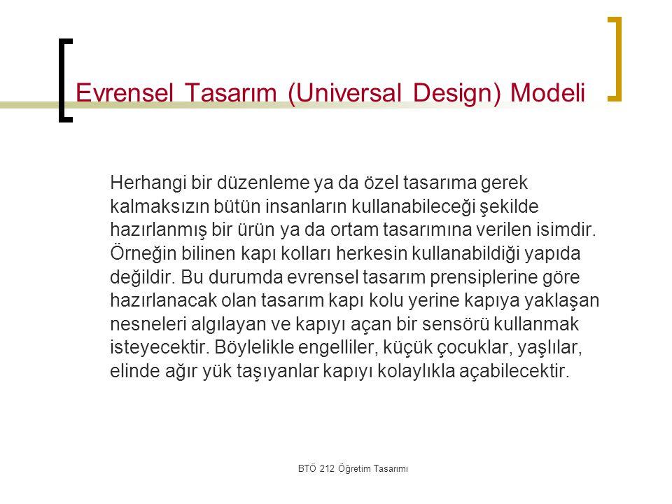 Evrensel Tasarım (Universal Design) Modeli