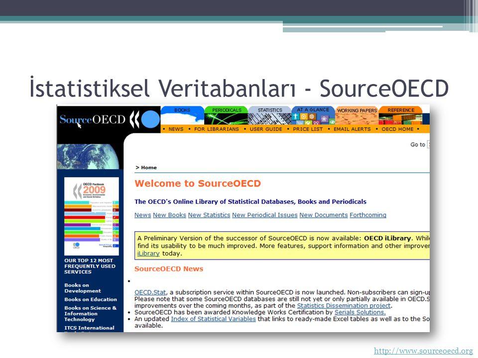 İstatistiksel Veritabanları - SourceOECD