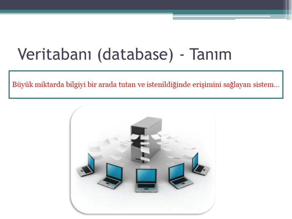 Veritabanı (database) - Tanım