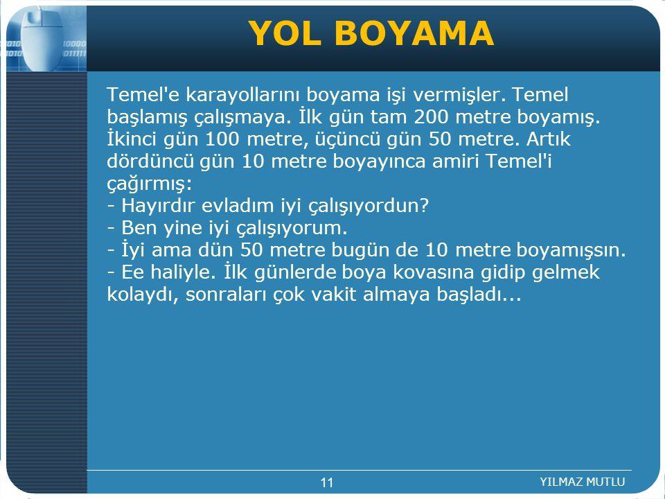 YOL BOYAMA