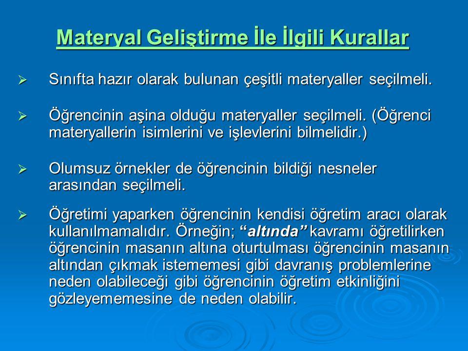 Materyal Geliştirme İle İlgili Kurallar