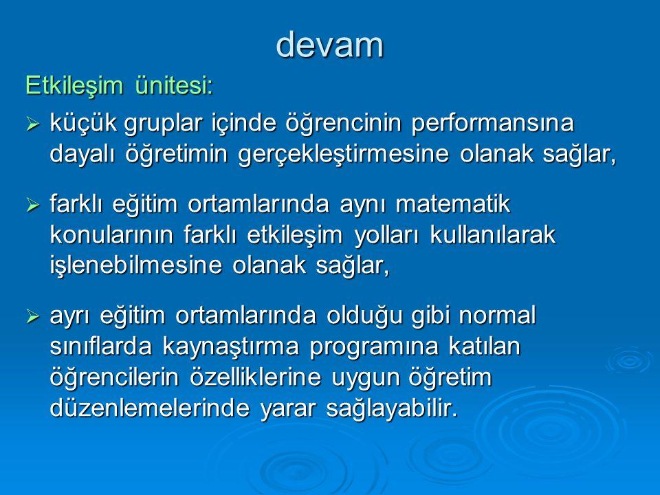 devam Etkileşim ünitesi: