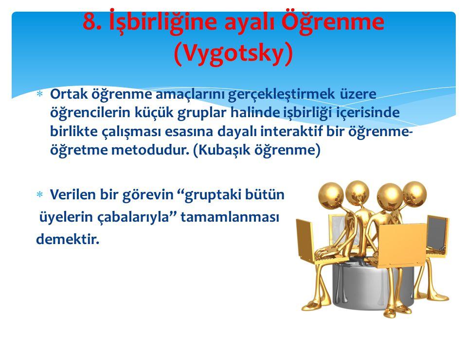 8. İşbirliğine ayalı Öğrenme (Vygotsky)