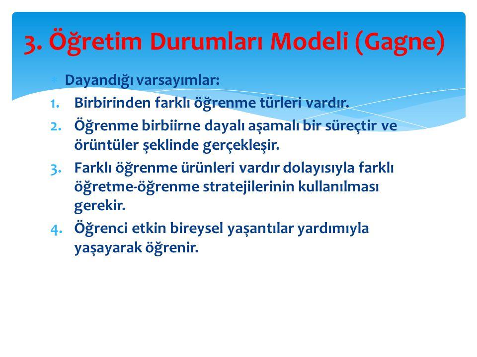3. Öğretim Durumları Modeli (Gagne)