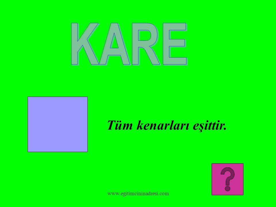KARE Tüm kenarları eşittir. www.egitimcininadresi.com