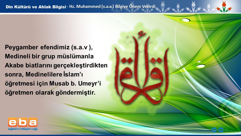 Peygamber efendimiz (s.a.v ), Medineli bir grup müslümanla