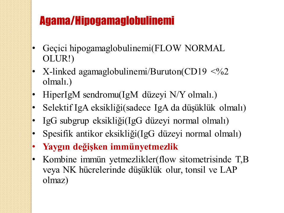 Agama/Hipogamaglobulinemi
