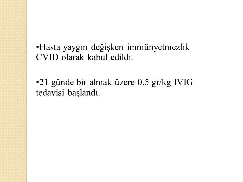 Hasta yaygın değişken immünyetmezlik CVID olarak kabul edildi.