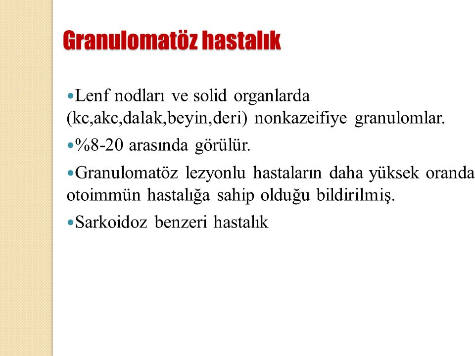 Granulomatöz hastalık