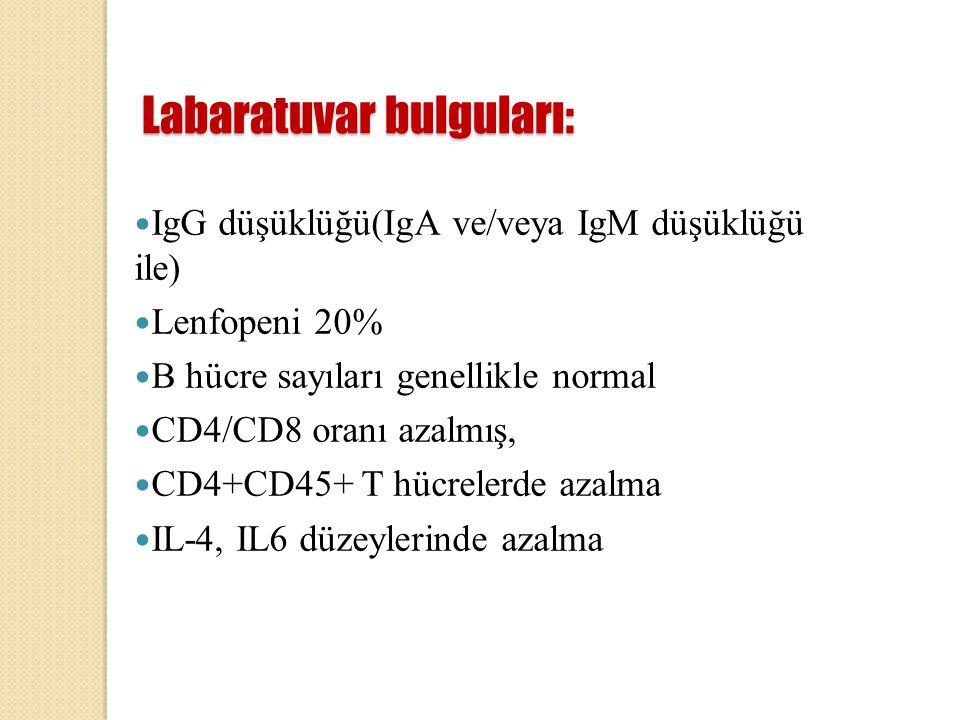 Labaratuvar bulguları: