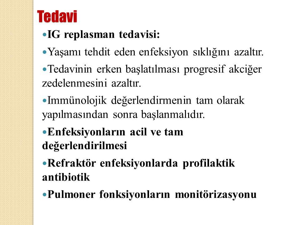 Tedavi IG replasman tedavisi: