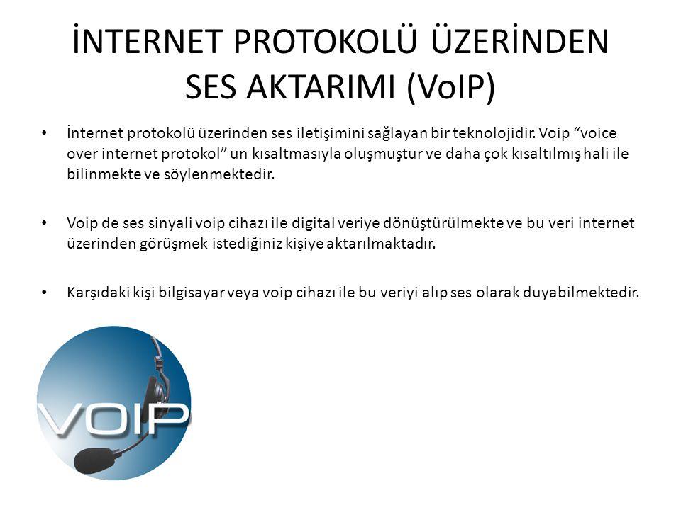 İNTERNET PROTOKOLÜ ÜZERİNDEN SES AKTARIMI (VoIP)