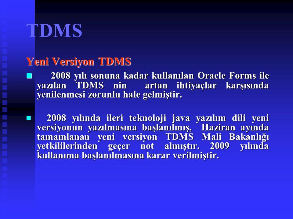 TDMS Yeni Versiyon TDMS