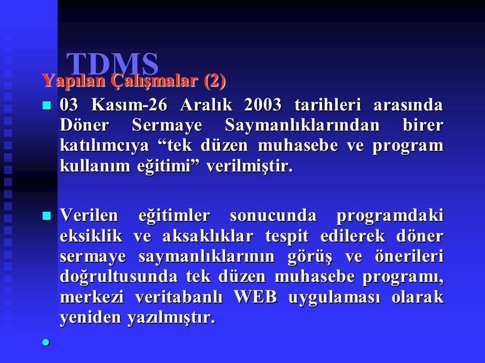 TDMS Yapılan Çalışmalar (2)