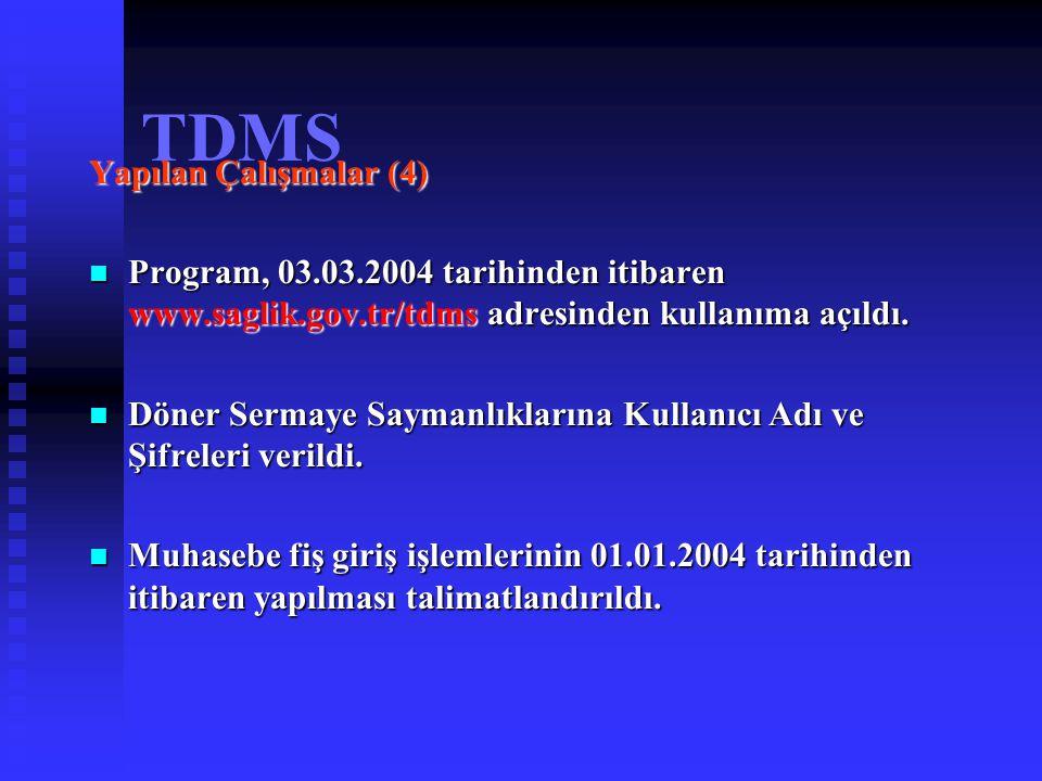 TDMS Yapılan Çalışmalar (4)