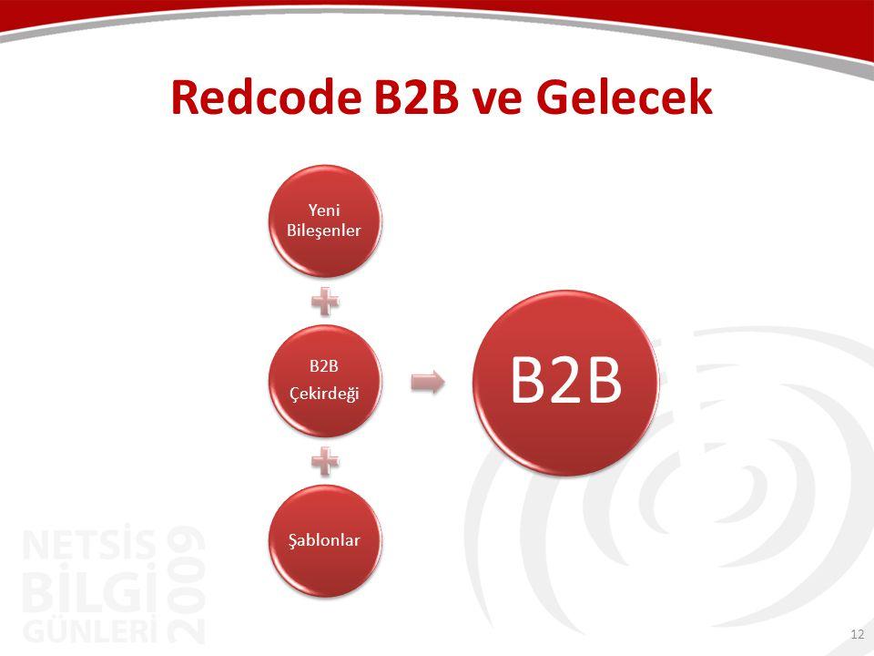 Redcode B2B ve Gelecek Yeni Bileşenler Çekirdeği B2B Şablonlar