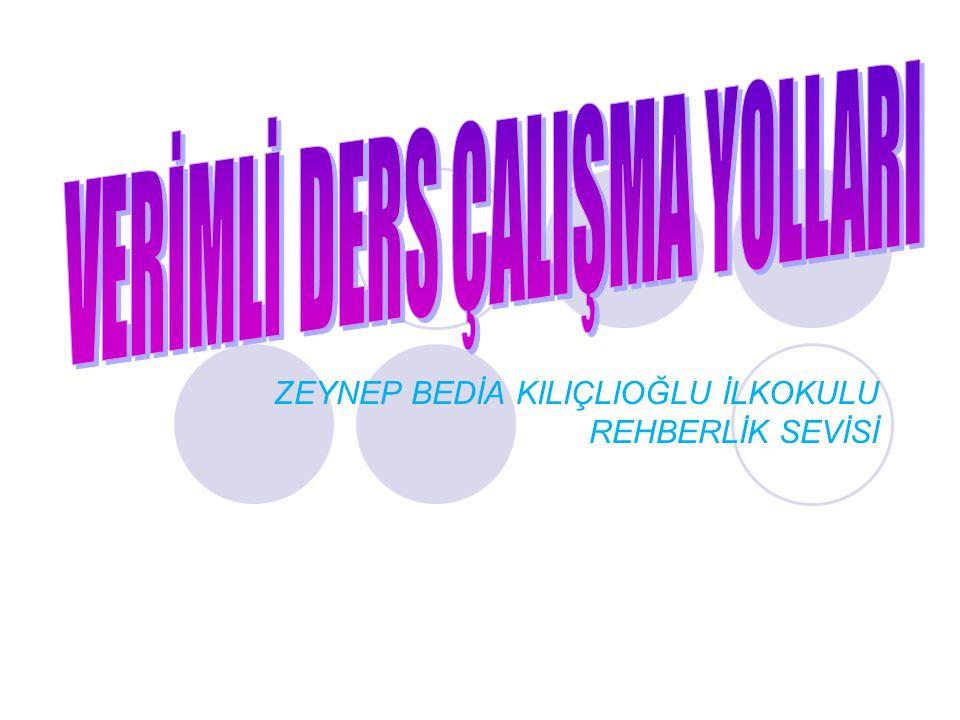 ZEYNEP BEDİA KILIÇLIOĞLU İLKOKULU REHBERLİK SEVİSİ