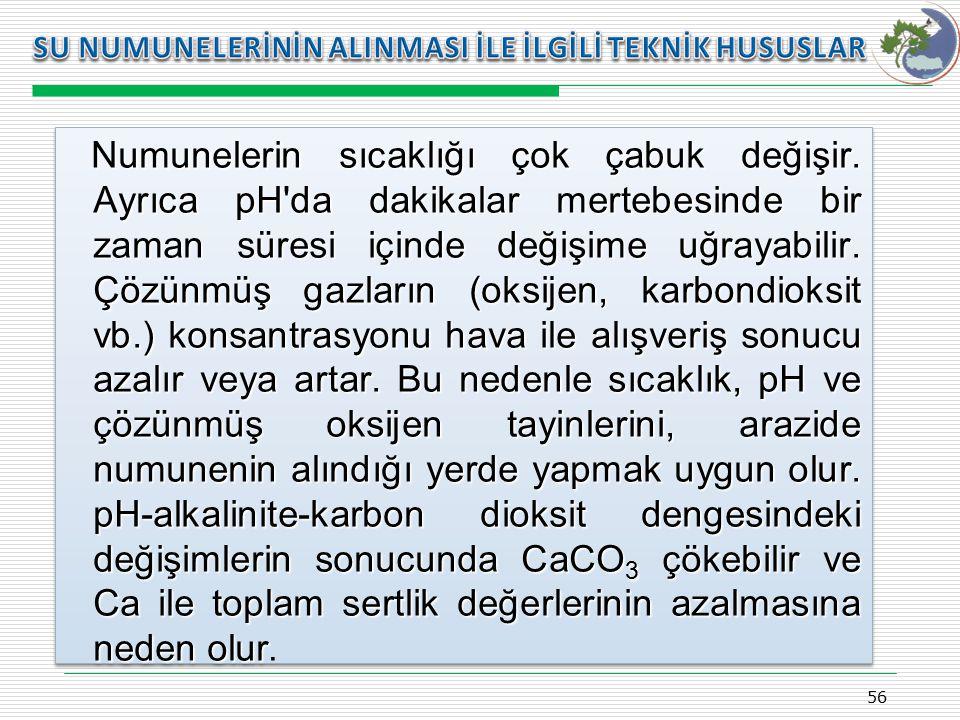 Kasım 2009 SU NUMUNELERİNİN ALINMASI İLE İLGİLİ TEKNİK HUSUSLAR.
