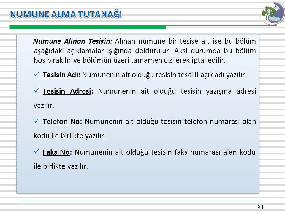 Kasım 2009 NUMUNE ALMA TUTANAĞI.