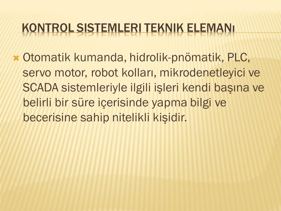 Kontrol Sistemleri Teknik Elemanı