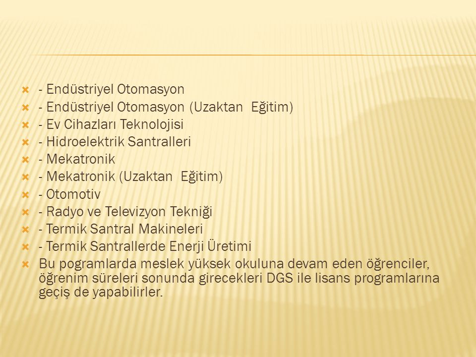 - Endüstriyel Otomasyon