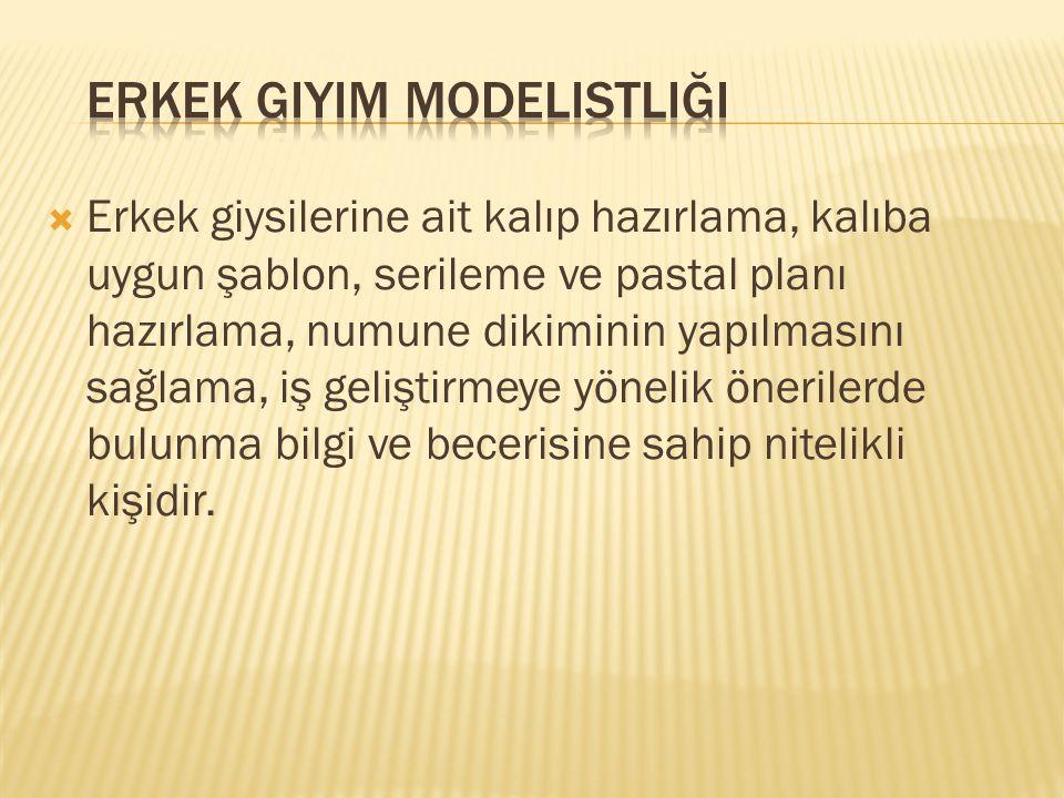 Erkek Giyim Modelistliği