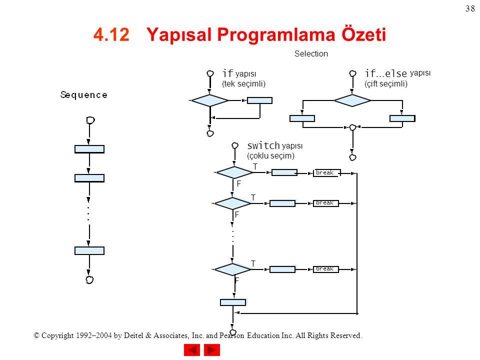 4.12 Yapısal Programlama Özeti