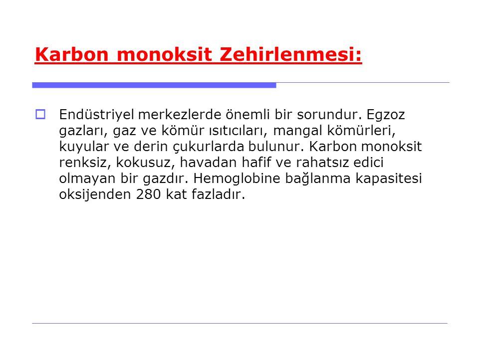 Karbon monoksit Zehirlenmesi: