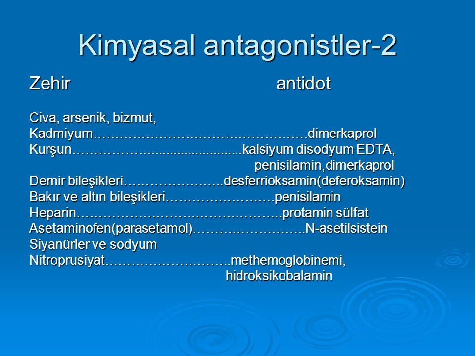 Kimyasal antagonistler-2