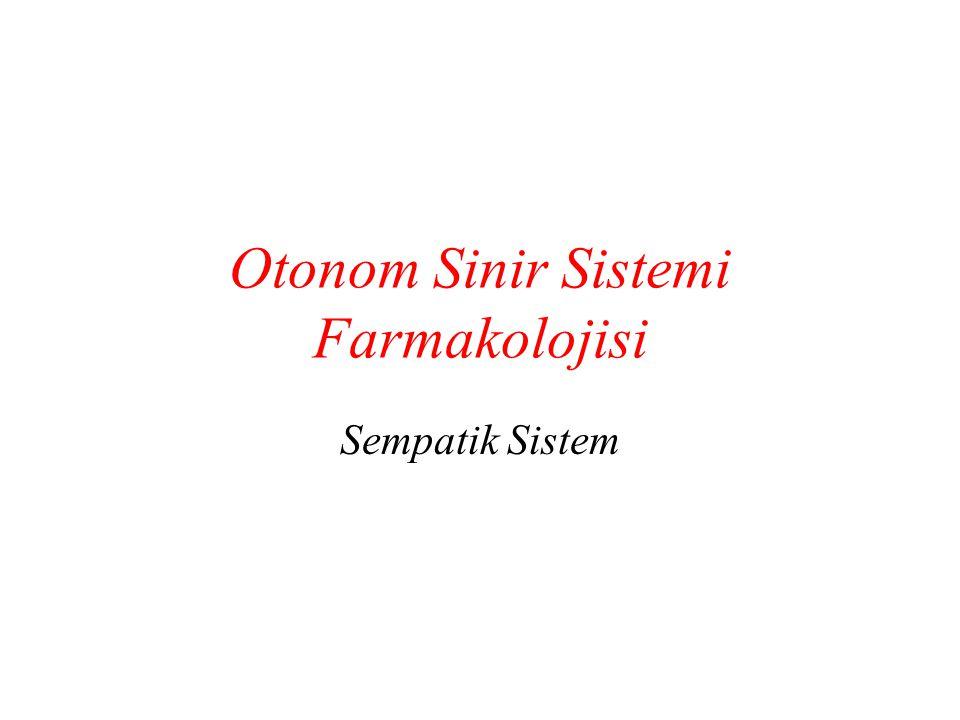 Otonom Sinir Sistemi Farmakolojisi
