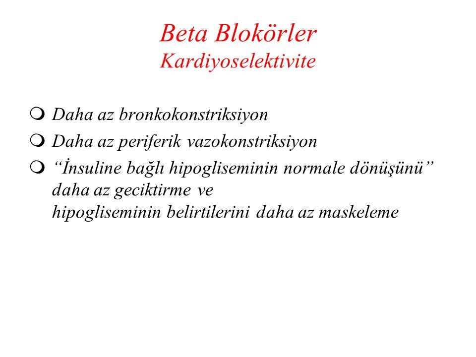 Beta Blokörler Kardiyoselektivite