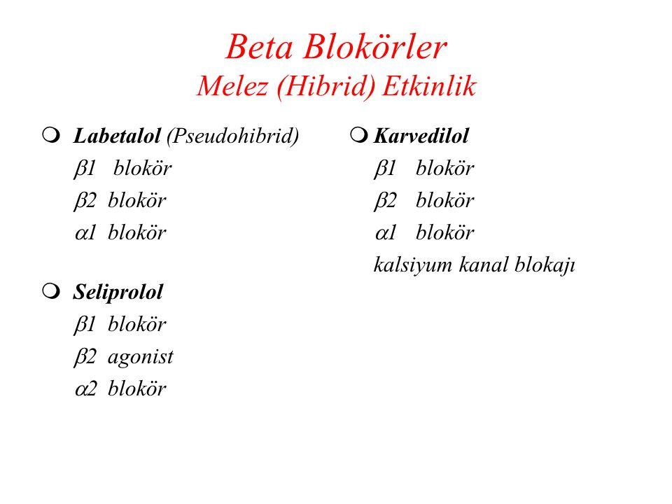 Beta Blokörler Melez (Hibrid) Etkinlik