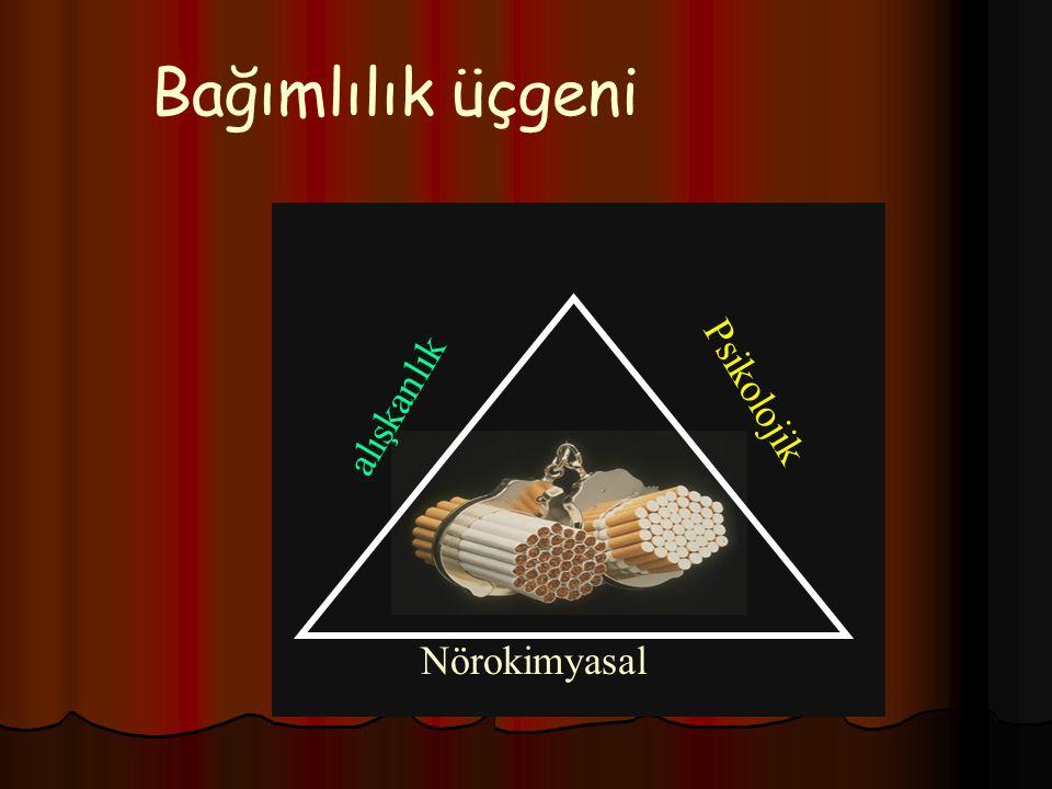 Bağımlılık üçgeni Nörokimyasal alışkanlık Psikolojik