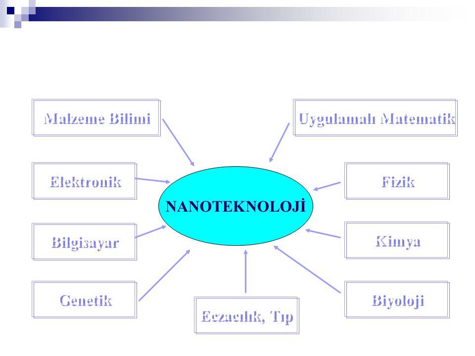Uygulamalı Matematik NANOTEKNOLOJİ. Malzeme Bilimi. Elektronik. Kimya. Fizik. Bilgisayar. Biyoloji.