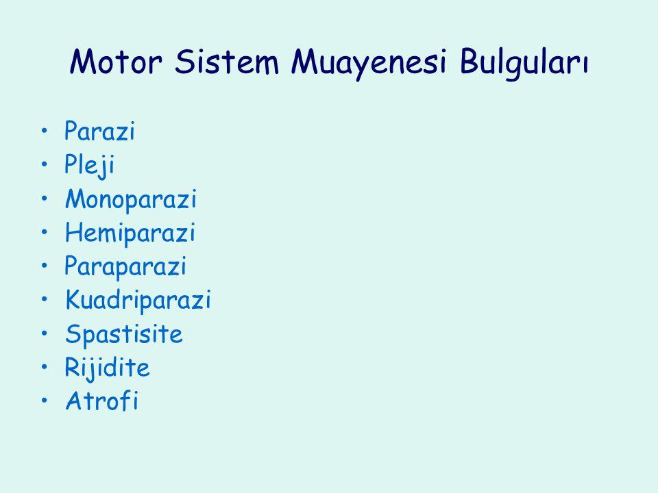 Motor Sistem Muayenesi Bulguları