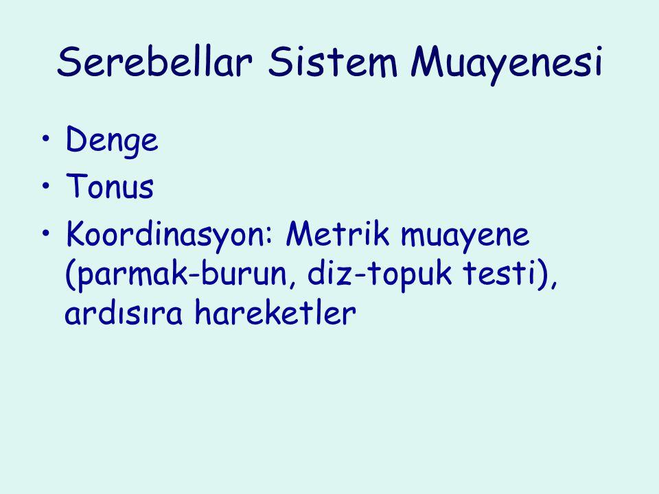 Serebellar Sistem Muayenesi