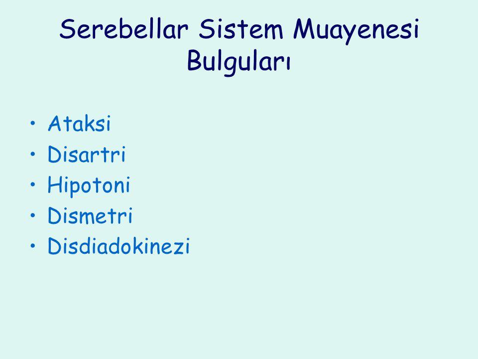 Serebellar Sistem Muayenesi Bulguları