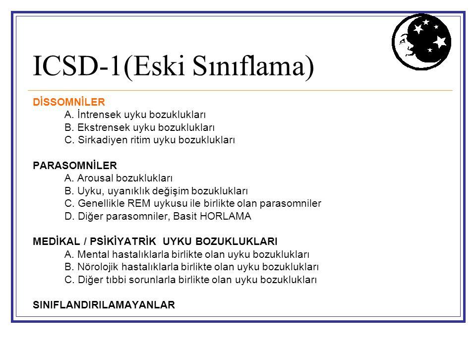 ICSD-1(Eski Sınıflama)