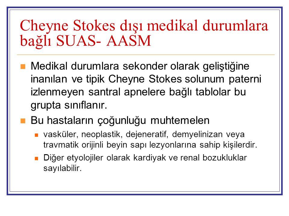 Cheyne Stokes dışı medikal durumlara bağlı SUAS- AASM